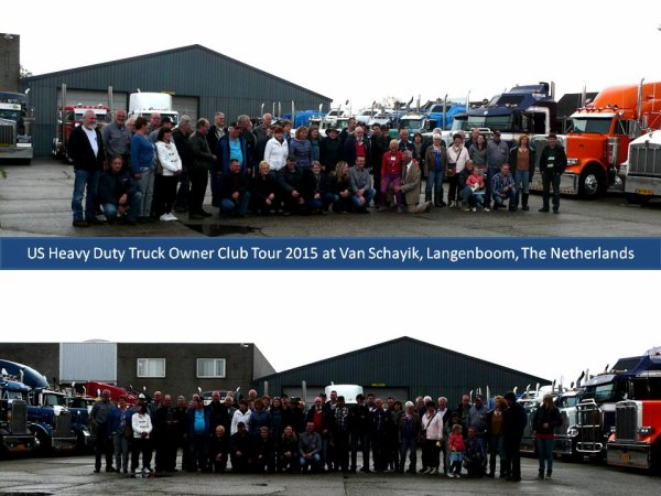 US Truck Tour 2015 in Langenboom at Van Schayik, The Netherlands