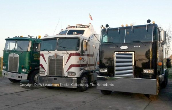 Kenworths and Peterbilt Cabover at De Wit US Trucks, Callantsoog, The Netherlands