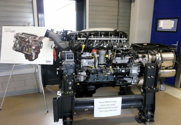 The Paccar MX11 engine for the US and the Paccar MX13 engine for Europe