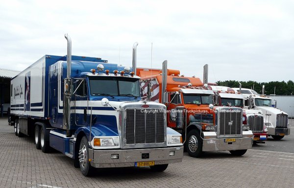 Paccar Kenworth and Peterbilt Trucks at Paccar DAF Eindhoven, The Netherlands