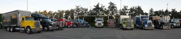 US Trucks parked at Borchland at the Mackday 2015 The Netherlands