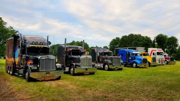 Some trucks in convoy last weekend