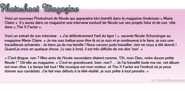 """Photoshoot Pour le Magazine """" Marie Claire """""""
