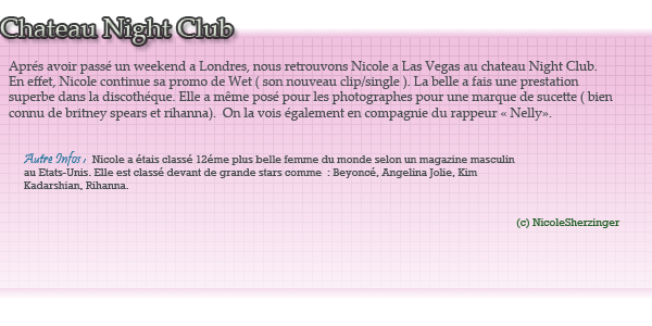 Nicole, Las Vegas, Au chateau  Night Club ce 02 Septembre
