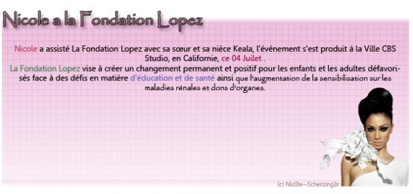 Nicole a la fondation Lopez ce 04 Juillet