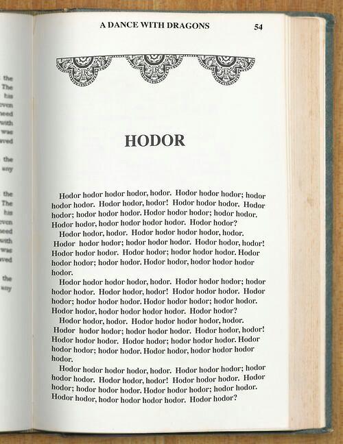 Si un des chapitres de G.o.T était du pdv d'Hodor