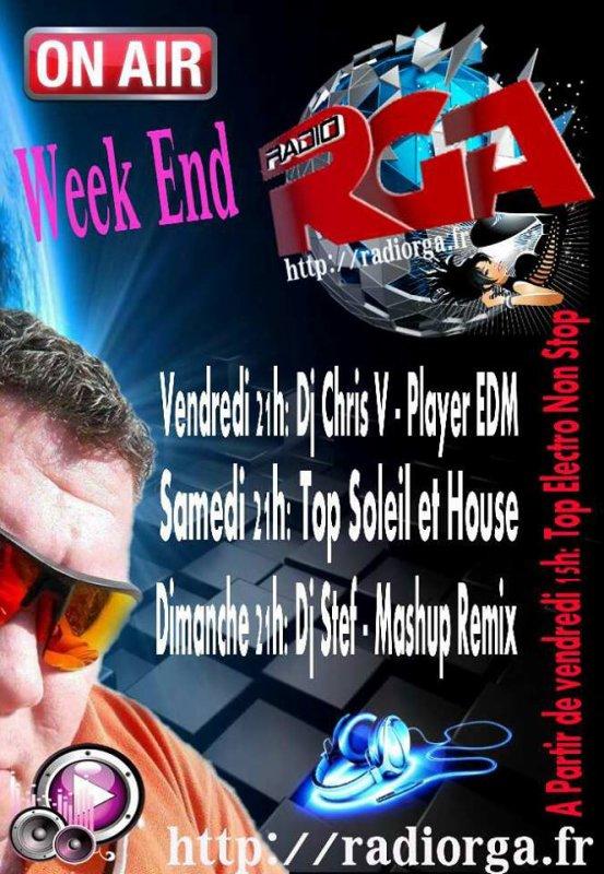 Ce soir, dés 21h00 c est DJ Chris V qui prends les platines, c est une spéciale Week end, mode EDM pour un Mix de 55 min, en exclu pour Radio RGA! C est EDM Player by DJ Chris V, alors restez à l écoute et... bonne soirée ?. profitez également et ce, depuis 15 h, de notre Top Electro durant tout le week end!!!! ➡ www.radiorga.fr www.radiorga.fr radiorga.fr