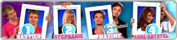 Nominé du 07/09 : Stéphanie,Maxime,Anne.Krystel et Bastien (( Team Pression Foutu.. ='[ )