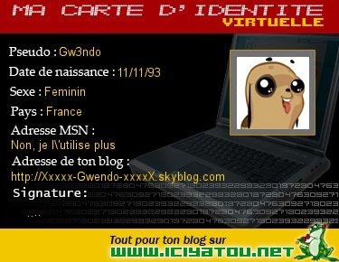 Carte d'identité virtuelle
