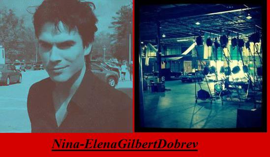 The Vampire Diaries saison 5 photo de Damon sur le tournage !