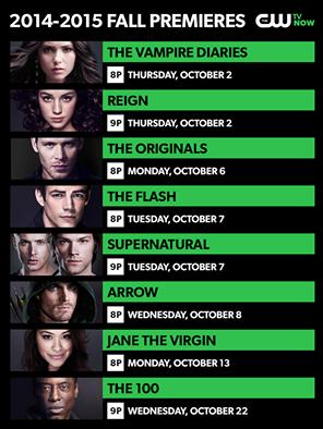 The CW a annoncé ses dates automne-première: