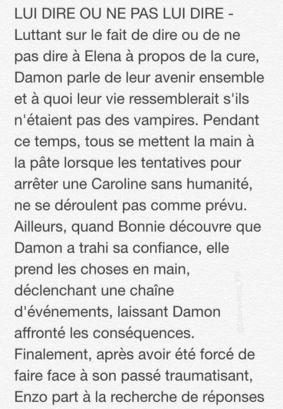 """The Vampire Diaries : Le synopsis et les deux premières photos promotionnelles dévoilés 6x19 """" Because """""""