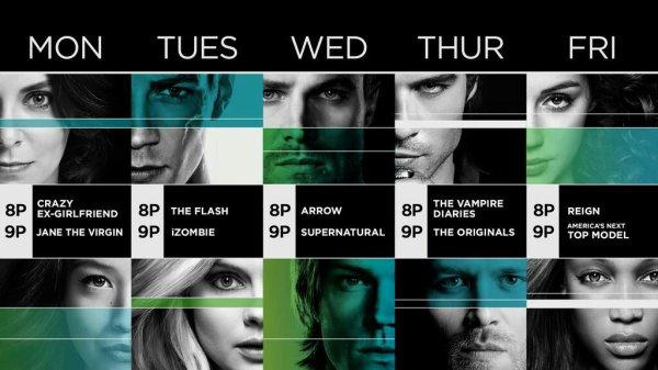 Voici l'emploi du temps des séries de la CW pour la rentrée 2015-2016 !