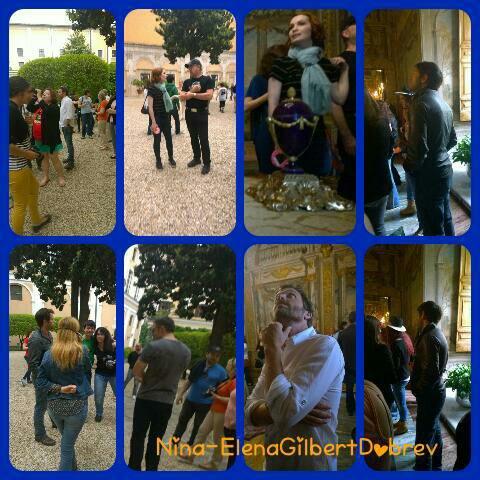 Misha Collins , Felicia Day , Osric , Rob et Richard étaient dans les rues de Rome , hier matin