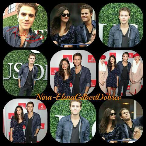 Phoebe Tonkin et Paul Wesley au US Open à New York