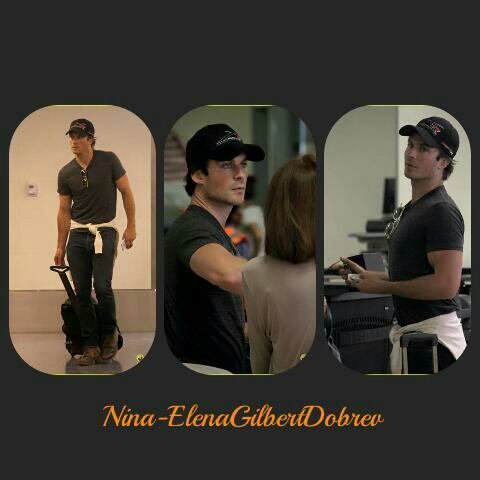 Ian Somerhalder à l'aéroport de Los Angeles , le 11 septembre