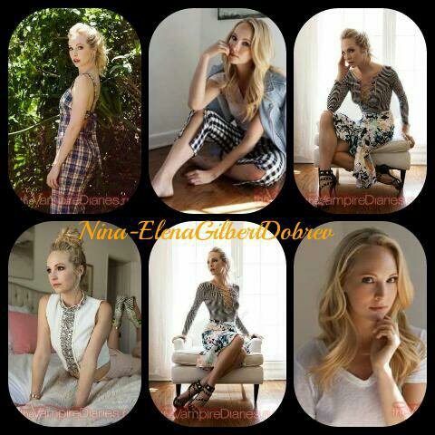 Candice Accola pour Amanda Elkins( avril 2015 )