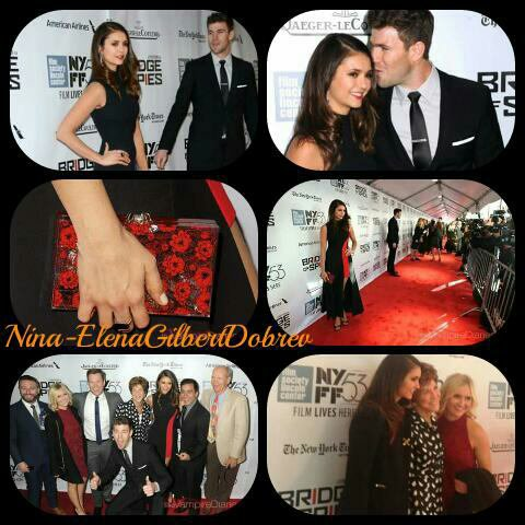 "Nina Dobrev accompagné de Austin Stowell au 53ème Festival du Film à New York - ""Bridge Of Spies"", le 4 octobre"