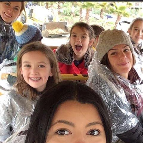 Geneviève a fait un safari avec ses amis , hier !