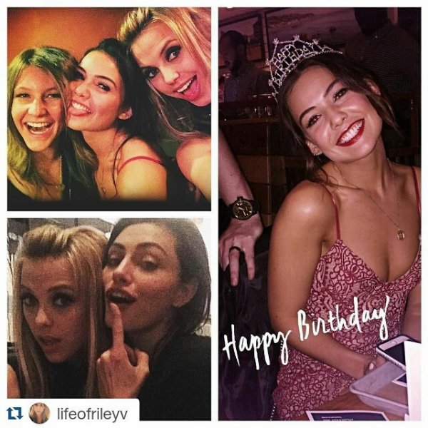 Voici des photos de l'anniversaire de Danielle Campbell fetant ses 21ans à Atlanta , il y a deux jours avec Riley , Carina , Phoebe et ses amies