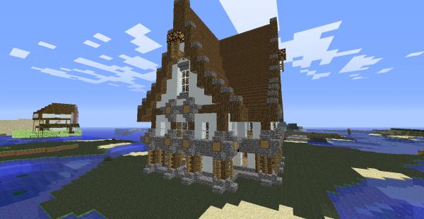 Des maison de folie sur le freebuild just4craft.