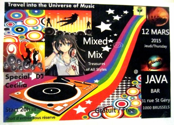 MIXED MIX  @ JAVA BAR  BRUSSELS   CE JEUDI 12/03/2015