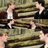 Nos deux acteurs préférés en plein tournage :)