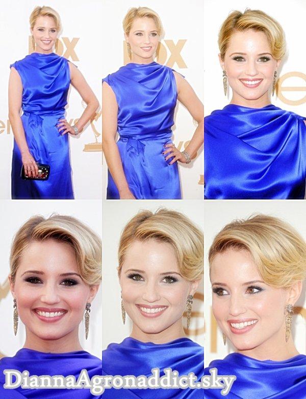 18/09/11 - Dianna assisté au 63e Primetime Emmy Awards au Nokia Theatre de LA en direct. Elle regarda magnifique dans une robe bleue et Roksanda Ilincic Epines à bout ouvert.