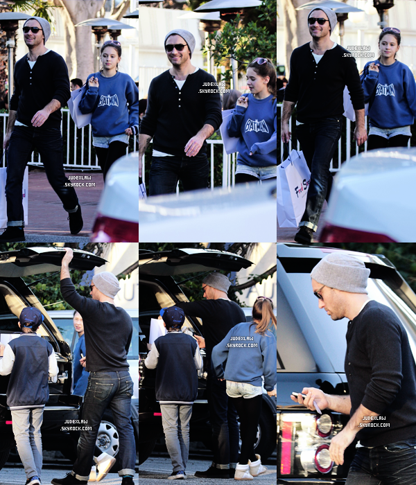 | Candids | Le 28.12.2012 - Jude shopping Sta Monica + Shooting