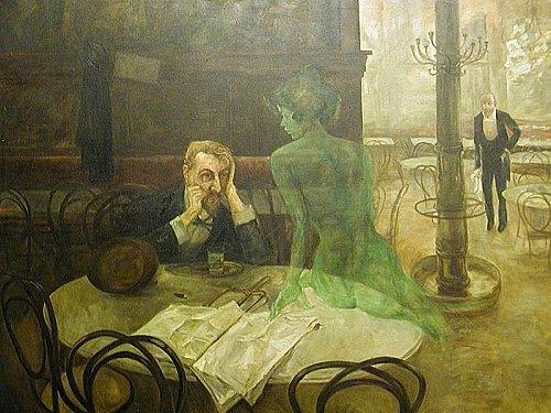 La Fée Verte (Tableau de Viktor Oliva et poème de Alfred De Musset)