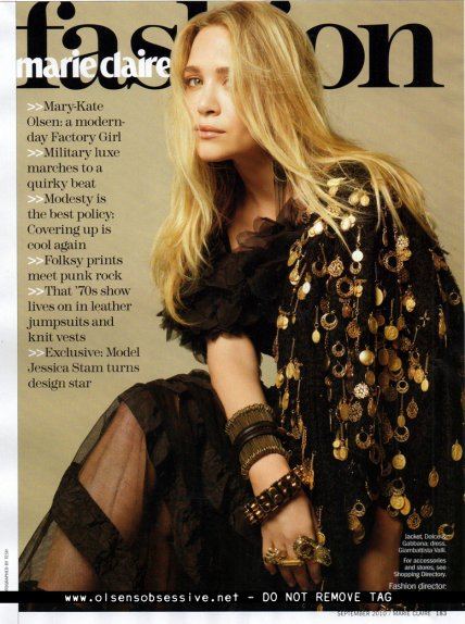 Mary-Kate pour le Marie Claire USA 2010