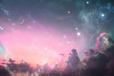 La ciel se font dans l'océan. Je nage dans les étoiles.