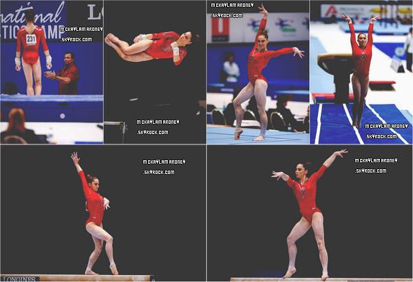 27.09.13 au 06.10.13 → McKayla était présente aux Mondiaux à Anvers. Elle a concouru au concours général et a gardé son titre de championne du monde au saut de cheval.