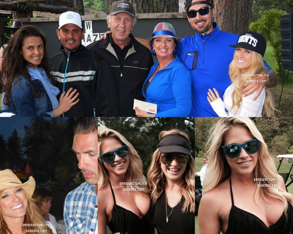 • • • 22/08/14: Barbara était au Gozzer Ranch Club avec Sheldon, son oncle Bob, sa tante Dubbie et deux amis, Adela & son mari. • • • #Candid