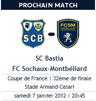 Match de Coupe de France Bastia-Sochaux
