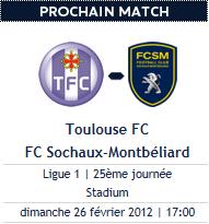 Toulouse 2-0 Sochaux : Prime à la persévérance, c'est loupé :(