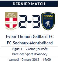 Evian 2-3 Sochaux, avec autorité, ça marche ! Les lionceaux ont rugis !
