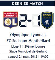 Lyon 2-1 Sochaux