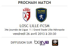 Lille - Sochaux, avant-match