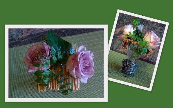 ne sachant quoi faire avec 2 roses qui restaient de mes montages du jour un verre glace dont. Black Bedroom Furniture Sets. Home Design Ideas