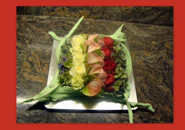 """Art Floral  """" La pensée Aubange"""""""