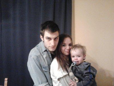 mon homme avec moi et notre fils gabriel