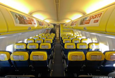 Voici l 39 interieur d 39 un boeing 737 8as de ryanair ryanair for L interieur d un avion