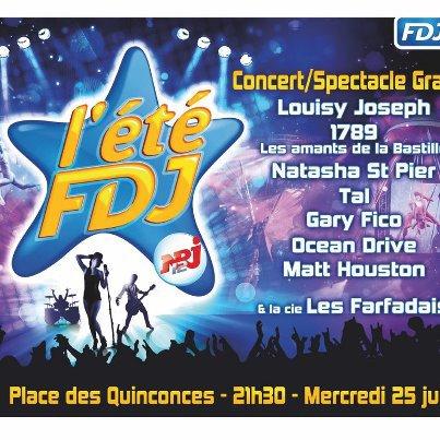 Venez nombreux au concert NRJ du mercredi 25 juillet 2012 à 21h30 à la Place des Quiconces!
