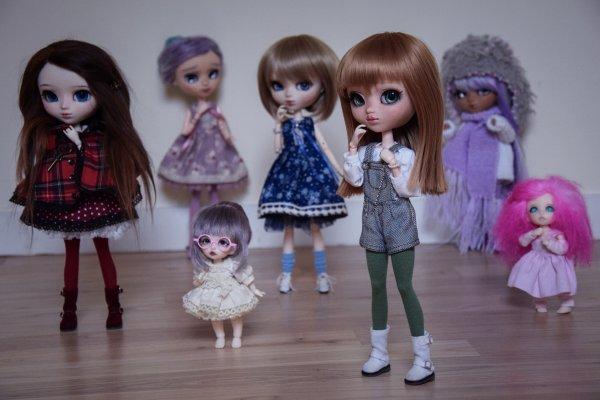En groupe les filles !
