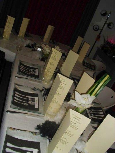 DRESSAGE DE LA TABLE DU VENDREDI 7 JANVIER - photo par steph