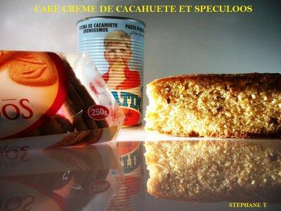 CAKE CREME DE CACAHUETE ET SPECULOOS - recette et photo par steph caen