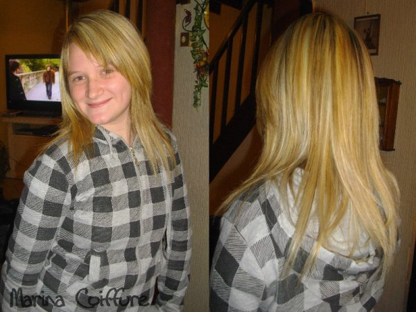 Coupe cheveux mi long sans degrade