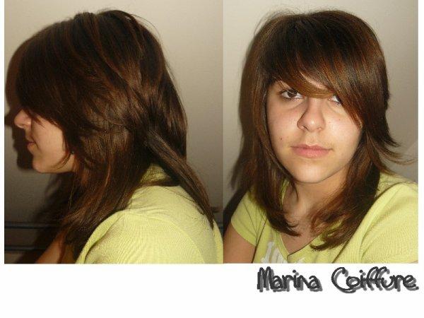 Cheveux long degrade destructure