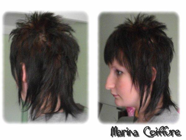 Coiffure destructuree cheveux mi long
